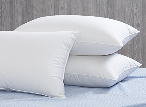 Dreamstead by Cuddledown Luxurious 550FP Duck Down Blended with Down-Alternative Medium Hypoallergenic Pillow, Standard, (Aurora Down Pillow)