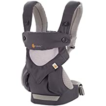 Ergobaby Carrier, 360 All Carry Positions Baby Carrier with Cool Air Mesh, Carbon Grey
