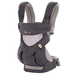 Ergobaby's Award-Winning 360 Baby Carrier All Carry Positions with Cool Air Mesh offers every carry positions in a cool and breathable fabric to get out and about with baby, from summer hikes to leisurely strolls.MAXIMUM COMFORT FOR BA...
