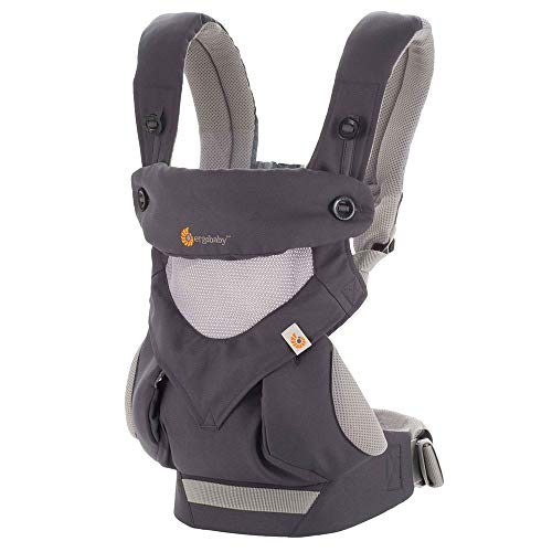 (Ergobaby Carrier, 360 All Carry Positions Baby Carrier with Cool Air Mesh, Carbon Grey)