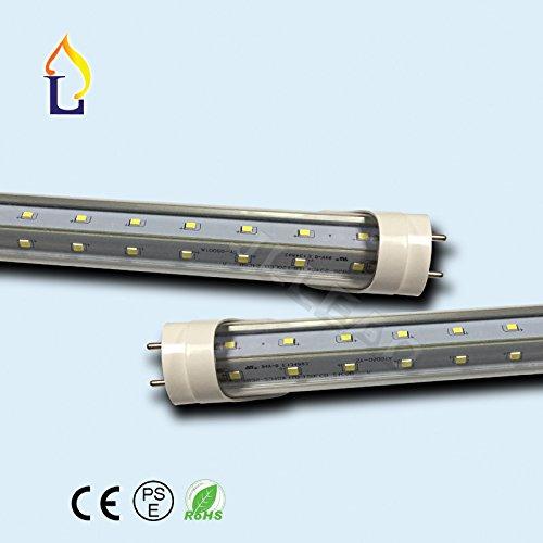 (6 PACK) ETL Stander T8 tube light 4ft 24W V shape two rows wide aluminum SMD2835 120leds 3000-3500K Clear cover