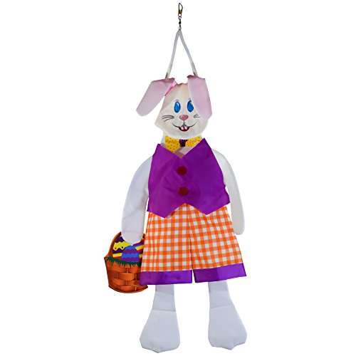 In the Breeze 1149 Benny Bunny Wind Friend Outdoor Easter Holiday 3D Hanging Décor, 30-Inches by In the Breeze
