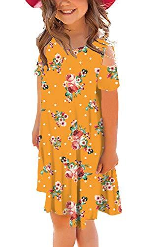 storeofbaby Casual Dresses for Little Girl Summer Comfort Loose Swing Midi Dresses ()