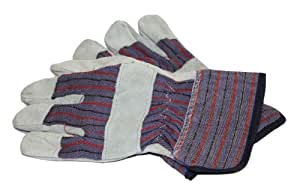 PIP WA4215A-AMZ Brahma Men's Large Glove Leather, Palm Grey, 3-Pack