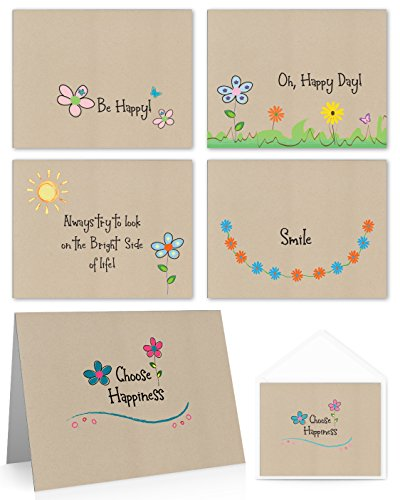 (Whimsical Happiness Variety Pack (20 Note Cards and Envelopes) Note Cards, Encouragement Cards.)
