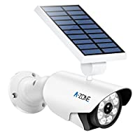 A-ZONE Solar Flood Lights Outdoor,800LM 8 LED Landscape Lighting IP66 Waterproof, Motion Sensor Solar Wireless Security Lighting for Porch Garden Patio Driveway Pathway,Aluminum Solar Lights
