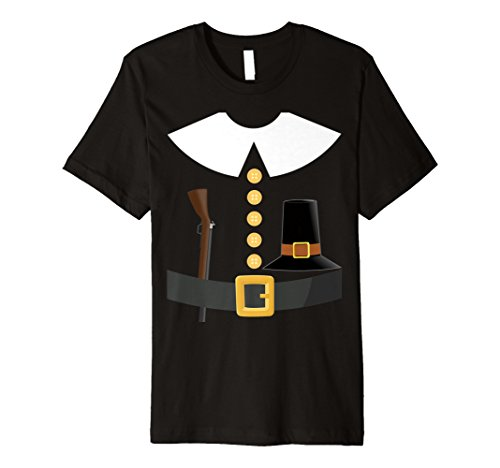 Pilgrim Thanksgiving T-shirt Costume Couples Idea -