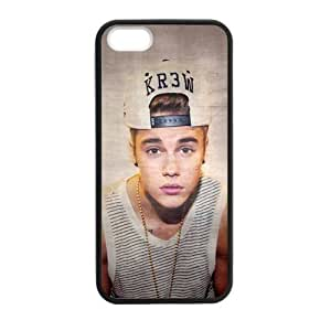 iPhone 5 Case, [Justin Bieber] iPhone 5,5s Case Custom Durable Case Cover for iPhone5 TPU case(Laser Technology)