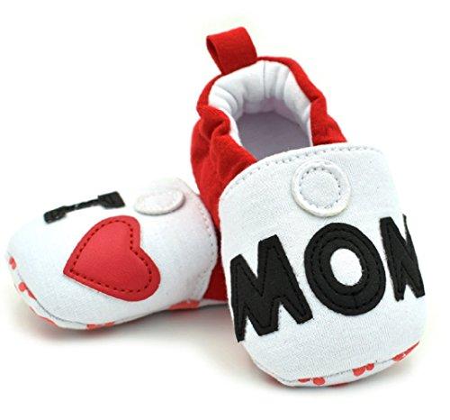 S5–Chaussons Chaussures Bébé I Love Mom- Ti Amo Mamma TG.12(4–8mois)