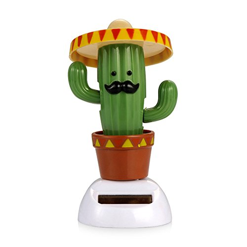 YGMONER Solar Dancing Toy Animal Solar Powered Dancing Dolls Swinging Animated Bobble Dancer Car Decor (Cactus) for $<!--$7.29-->