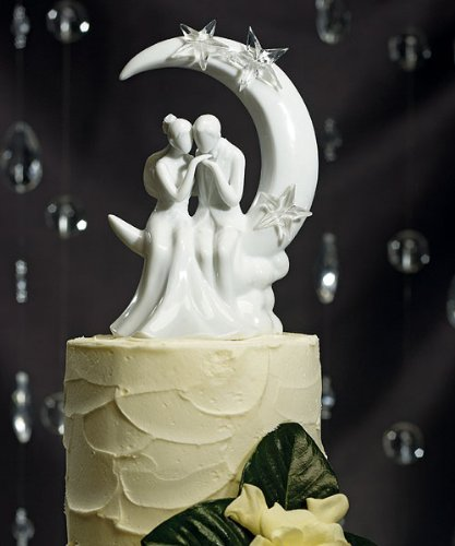 Weddingstar Written in the Stars Bride and Groom Couple Figurine for Cakes (Lord Of The Rings Wedding Cake Topper)