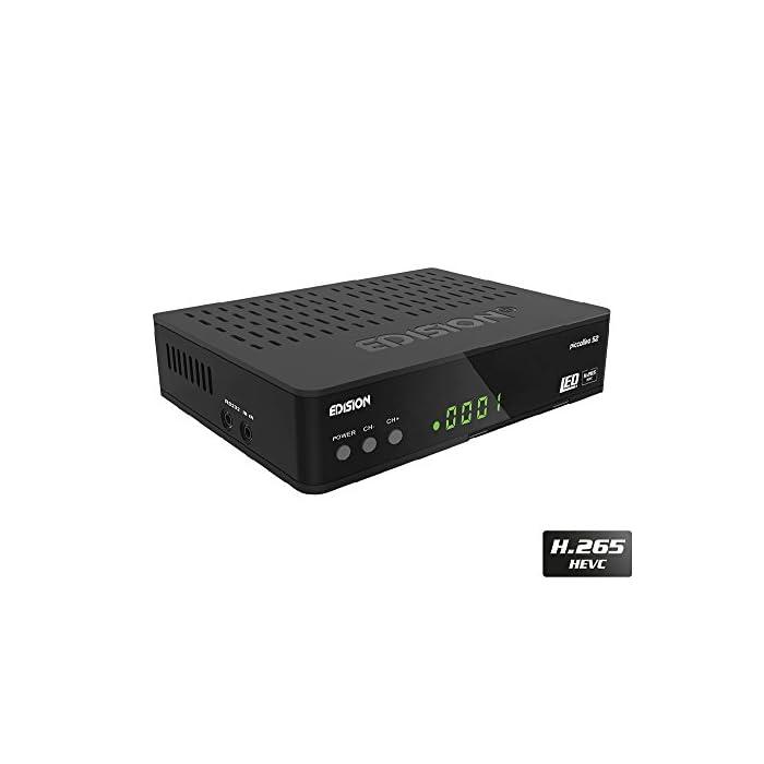 Haz clic aquí para comprobar si este producto es compatible con tu modelo Full HD receptor de satélite (DVB-S2) libre para todos canales digitales de radio & programas TV La Piccollino le ofrece conmutación rápida, Full HD y LAN