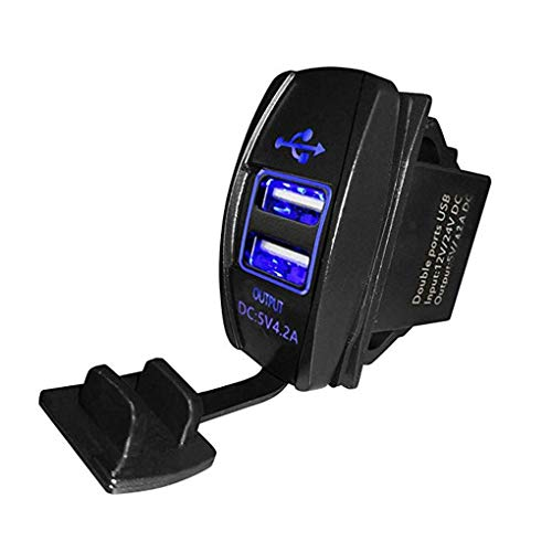 Tralntion 12-24V Dual USB Car Charger 5V 3.1A Universal Auto Mobile Phone Charger Replacement for Auto Motorcycle Electric Car Boat
