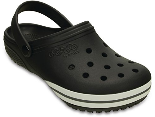 Crocs Jibbitz kilby Clog Black Relaxed Fit Unisex Mens 8/Womens 10 by Crocs