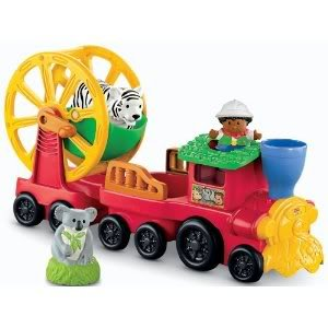 Toy / Game Super Fisher-Price Little People Zoo Talkers Animal Sounds Zoo Train for Fun Sound Effects And Music by 4KIDS