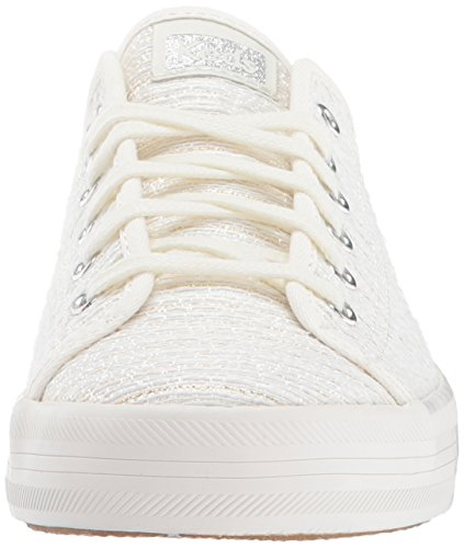 Keds Vrouwen Kickstart Lurex Streep Fashion Sneaker Cream