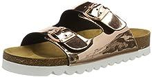 Lico Bioline Chic, Zapatillas de Estar por casa para Mujer, Dorado (Rosegold Rosegold), 36 EU