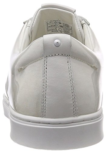 Hugo Post_slon_Log, Sneaker Infilare Uomo Bianco (White 100)