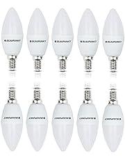 Blaupunkt LED E14 - kaars 6,8 W - komt overeen met 50 W lamp - 680 lumen - 4000 K natuurlijk wit - spaarlamp / energieklasse A+ - kostenbesparend - 10 stuks
