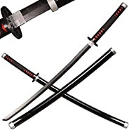 SV Wooden Anime Samurai Sword Cosplay, Demon Slayer Sword 39-inch Wooden Sword-a Variety of Styles to Choose f