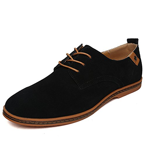 Uomo Scarpe di Uomo SHELAIDON Oxford Men Scarpe Pelle Basse Nero Stringate Shoes Oxford anwUnq8X
