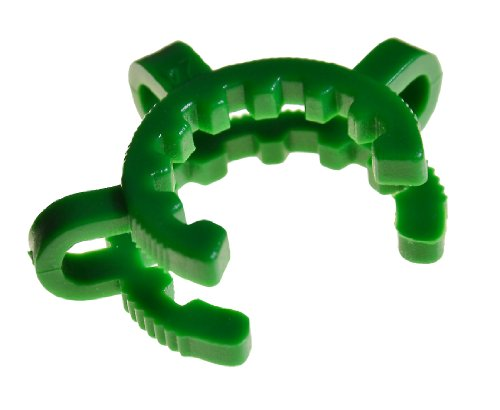 (Chemglass CG-145-05 Clamp, Keck, Green, Standard Taper, Fits Joint Sizes 24/25 and 24/40 (Pack of 10))
