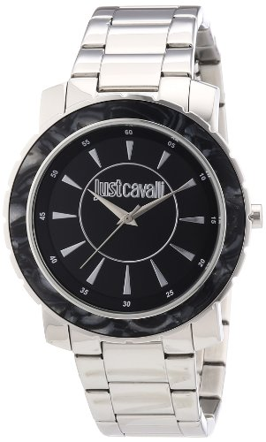Just Cavalli R7253582502 – Reloj analógico para mujer de acero inoxidable negro