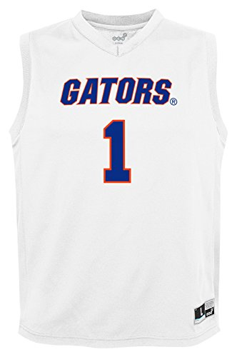 NCAA Youth Boys Fashion Basketball Jersey Florida Gators, Medium (10-12), White