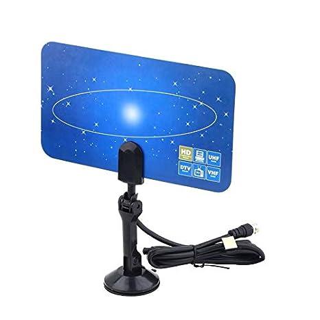 HD TV 1080P digital antenna indoor flat antenna UHF VHF design high gain