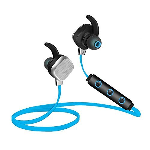 KOBWA Bluetooth Headphones, Fashionable Magnetic Wireless HiFi Stereo Sound in-Ear Earbuds Waterproof & Sweatproof Sport Earphones, CVC 6.0 Noise Cancelling NFC Headset for iPhone & Android