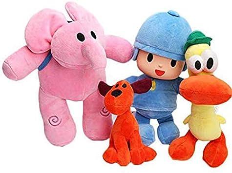 Set de 4 muñecos de Peluche Pocoyo Elly Pato Loula muñecos de ...