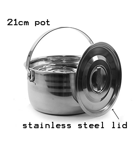 Wealers Stainless Outdoor Cookware Backpacking