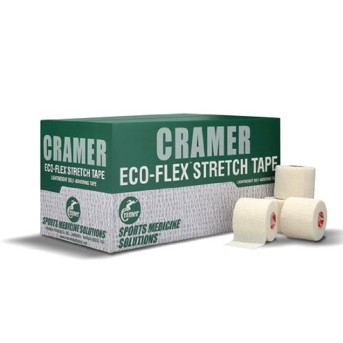 Cramer Products Athletic Tape 285114 Black Eco-Flex Cohesive - 2 Inch By 6 Yard - Case Of ()