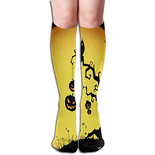 Socks Halloween Pumpkin Devil Night Personalized Womens Stocking Gift Sock Clearance for Girls]()