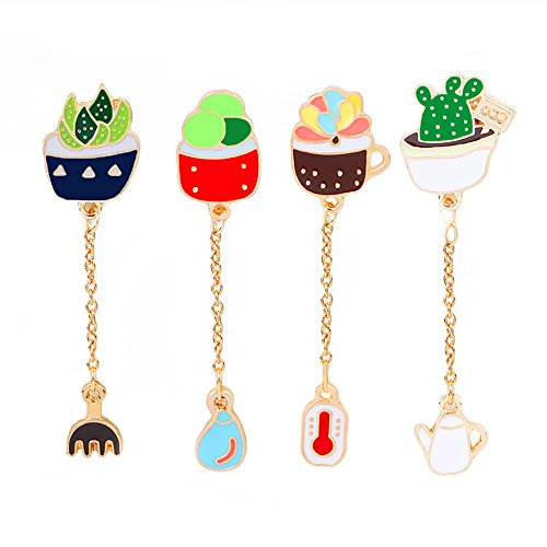 el Brooch Pins Set for Unisex Child Women's Clothing Decorate (Cactus with Pendants Set) (Pin Pendant Set)