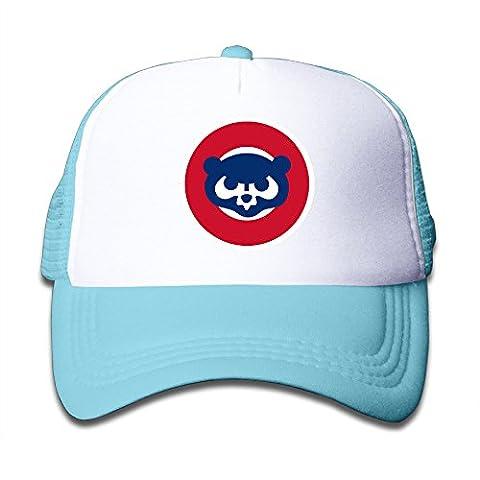 Candi Girls Baseball Team Cub Mesh Cap Sports UV Protect Flexfit Size One Size SkyBlue (Jake Wii)