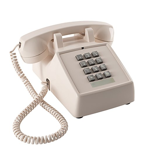 Home Intuition Amplified Single Line Corded Desk Telephone with Extra Loud Ringer, Ash - Amplified Telephone Ringer