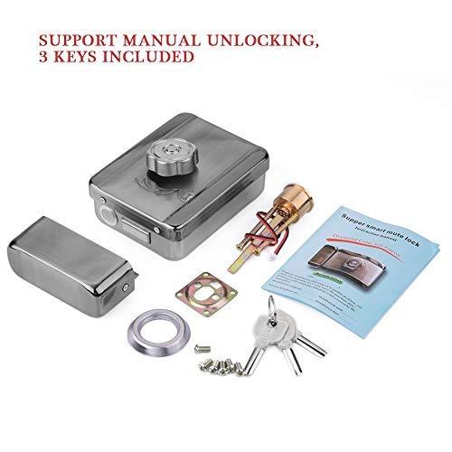 Smart Mute - Bloqueo de Seguridad para Puerta de Control eléctrico para Sistema de Control de Acceso de Puerta, Kit de protección de Entrada de casa: ...