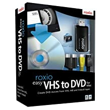 Sonic Solutions Roxio Easy VHS to DVD with USB 2.0 TV/Video Capture Device - Complete Product - Standard - 1 User - Mac Intel-based Mac - 243100