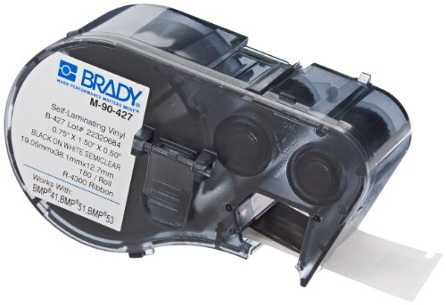 Brady M-90-427 Labels for BMP53/BMP51 Printers by Brady