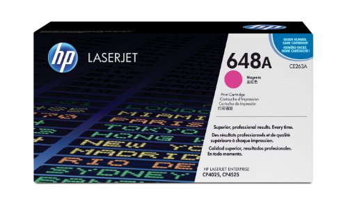 HP 648A (CE263A) Magenta Toner Cartridge for HP Color LaserJet Enterprise CP4025 CP4525