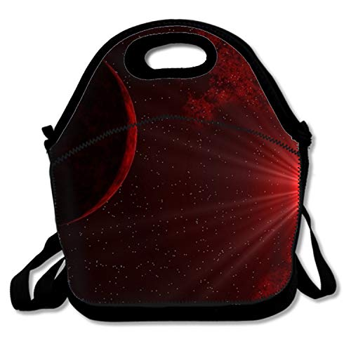 - Blair Louisa Sunlight Through Red Space Boys Girls Insulated Neoprene Lunch Bag Tote Handbag Lunchbox Food Container Tote Cooler Warm Pouch for School Work Office