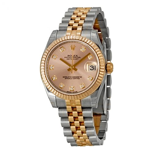 Rolex Datejust Lady 31 Pink Dial Stainless Steel and 18K Everose Gold Rolex Jubilee Automatic Watch 178271PDJ (Rolex Pink Gold)