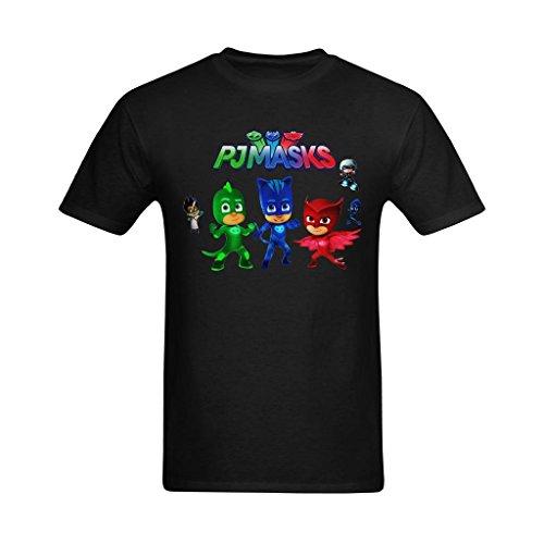 Nehasigo Men's PJ Masks Cartoon Funny Design Tee-shirts