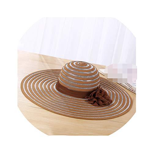 New Sun Hat Polyester Large Wide Brim Ventilation Casual Hats Elegant Floppy Hats,Light - 30 Caps Dophilus Fem