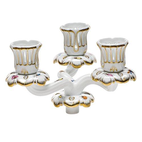 Herend Rothschild Bird Triple Candle Arm