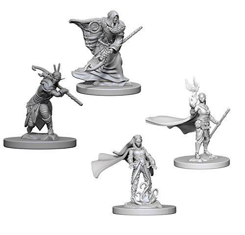 (Dungeons & Dragons Nolzur's Marvelous Unpainted Miniatures Bundle: Elf Male Druids & Elf Female Druids)