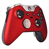eXtremeRate Red Soft Touch Replacement Shell Front Faceplate Cover for Xbox One Elite Controller