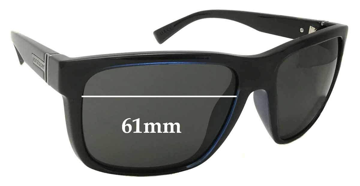SFX Replacement Sunglass Lenses fits Von Zipper Maxis 61mm Wide