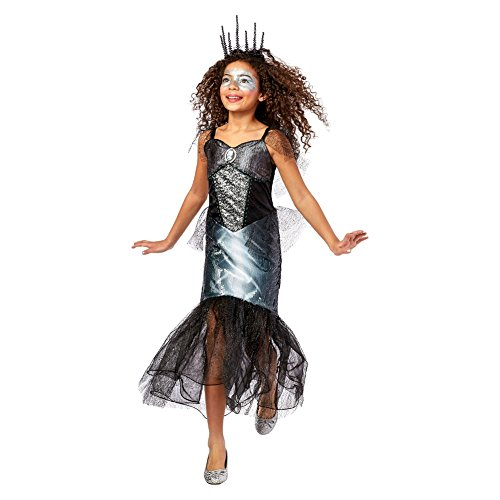 [Holiday Style Kids' Skeleton Mermaid Dress Up Costume (Small 4-6)] (Little Girl Skeleton Costumes)